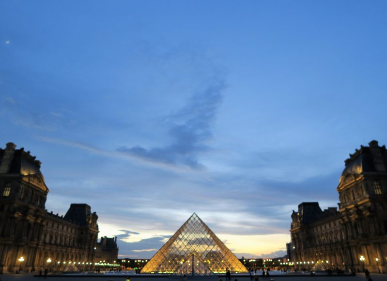 Louvre Paris Sunset